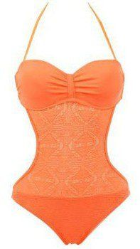 Pin for Later: 97 Maillots de Bain 1 Piece Plus Sexy Que des Bikinis  H.nathalie Maillot de Bain Trikini Shiver Orange (30€)