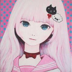 「Sweet Tuesday」2014200 mm x 200 mm x 37 mmAcrylic On CanvasKaoru Hasegawa長谷川 馨|ハンドメイド、手作り、手仕事品の通販・販売・購入ならCreema。