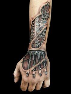 hand tattoos for guys robot * robot hand tattoo . hand tattoos for guys robot . Hand Tattoos Pictures, Hand Tattoo Images, Full Hand Tattoo, Skeleton Hand Tattoo, Hand Tattoos For Guys, Full Sleeve Tattoos, Tattoo Guys, Flame Tattoos, Dope Tattoos