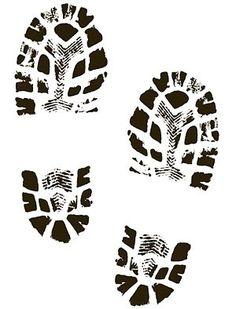 boots shoes shoe print clip art