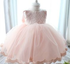 """The """"Reina"""" Lace Dress Flower Girl Party Dress. Angora Boutique $60"""