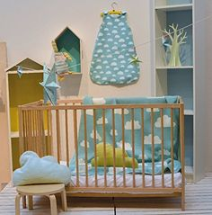 David Fussenegger Blankets on Sale Blue Yellow Grey, Thing 1, Baby Shop, Cribs, Clouds, David, Room, Nursery Ideas, Furniture