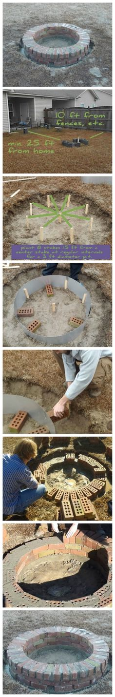 How To Build Your Own Fire Pit in a Weekend for Under $200