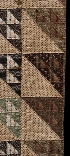 close up,  birds in the air, Unknown Quilt Maker, Collected in Massachusetts, 72 x 78 in, c 1870, The Quilt Complex