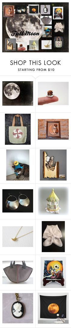 """Full Moon: Unique Etsy Gifts"" by paulinemcewen ❤ liked on Polyvore featuring Dollhouse"