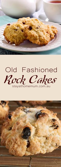 Old Fashioned Rock Cakes. When was the last time you had a really old fashioned tasting Rock Cake? Now you can - these taste just like you will remember they did! 100 Cookies Recipe, Yummy Cookies, Cookie Recipes, Lemon Cookies, Cupcake Recipes, Dessert Recipes, Sweet Desserts, Sweet Recipes, Rock Cakes
