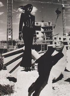 Helmut Newton  //  1998 Brigitta Bungard, For Thierry Mugler.
