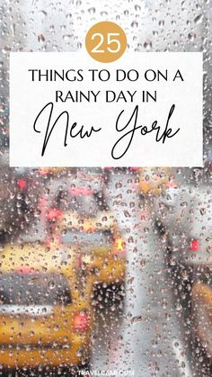 Rainy day in New York | Things to do in NYC when it rains | indoor activities in new york | new york indoor attractions | winter in new york | fall in new york | Travel USA - United States
