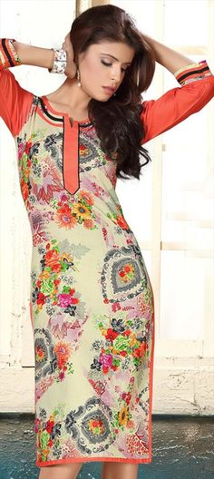 450898 Multicolor  color family Cotton Kurtis, Printed Kurtis in Cotton fabric with Printed work .
