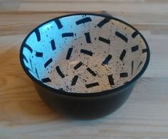 Inside Out Speckle-Squiggle Pot. by ELAICHDESIGNS on Etsy