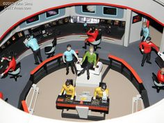 John Sims' Enterprise Bridge Cosmos, Star Trek, Bridge, Nerd, Models, Role Models, Universe, Model