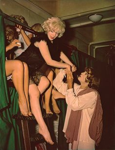 "Marilyn Monroe as Sugar Kane & Tony Curtis as Josephine in ""Some Like It Hot"" release date March 29, 1959"