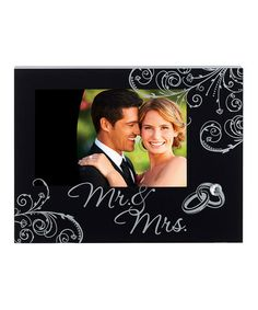 This 'Mr. & Mrs.' Frame is perfect! #zulilyfinds #weddings    pinned by http://BorisyukPhotography.com