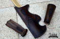 Medieval Quiver / Turkish Quiver /  Tooled Quiver / Celtic Quiver/ Archery Arm Guard/ Archery Glove / Archery Set/ Celtic Horse by HobbitLeatherworks on Etsy https://www.etsy.com/listing/455571532/medieval-quiver-turkish-quiver-tooled