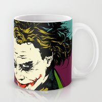 Coffee Mugs featuring Joker So Serious by Vee Ladwa