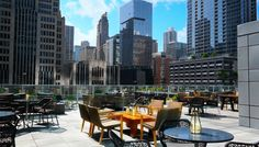 Streeterville Social, a two-part operation on the third-floor roof of the Loews Hotel, is a sun-drenched wonderland with two bars, a lawn for gaming, a bistro, and more.