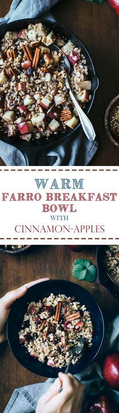 A heart warming farr A heart warming farro breakfast bowl recipe with Cinnamon apples and Recipe : http://ift.tt/1hGiZgA And @ItsNutella  http://ift.tt/2v8iUYW