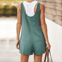 Buy Womens Jumpsuit Summer Bib Pants Shorts Casual Loose Sleeveless Rompers Jumpsuit Suspenders Overalls XS-XXXL at Wish - Shopping Made Fun Yellow Jumpsuit, Short Jumpsuit, Casual Jumpsuit, Striped Jumpsuit, Jumpsuit Shorts, Rompers Women, Jumpsuits For Women, Fashion Jumpsuits, Fashion Pants