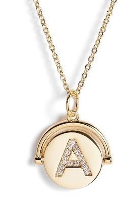 Sale $44.90 / Was $68 Women's Lulu Dk Love Letters Spinning Initial Necklace | Sales ending August 6, 2017