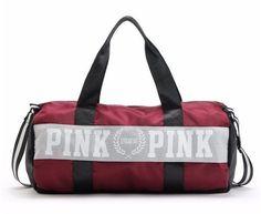 Duffel Bag, Canvas Shoulder Bag, Pink VS Secret Pink Travel Bag
