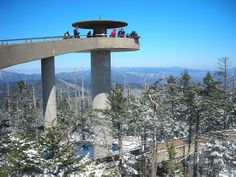 Clingman's Dome is in North Carolina, inside the Great Smoky Mountains National Park