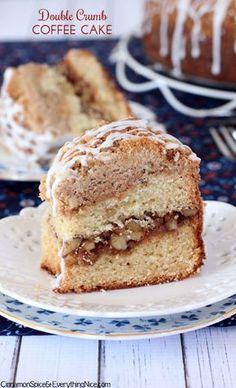 Double Crumb Cinnamon Streusel Coffee Cake