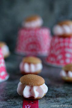 Pink Lemonade Miniature Ice Cream Sandwiches | Cravings of a Lunatic
