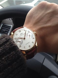 watch + brown leather = love