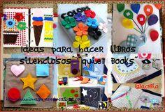 """Ideas para hacer libros silenciosos """"quiet books"""" con materiales sencillos y divertidos"""