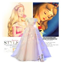"""""""Disney inspired: Sleeping beauty"""" by vict0ria ❤ liked on Polyvore featuring Elie Saab, Alexander Wang, disney, princess, sleepingbeauty, gown and aurora"""
