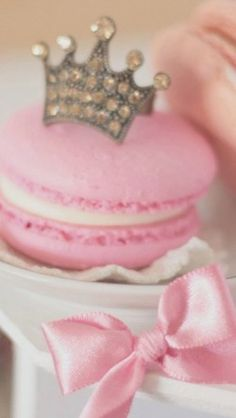 Pink Macaron with Crown