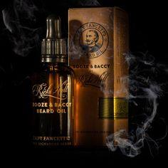 Ricky Hall's Booze & Baccy beard oil by Captain Fawcett