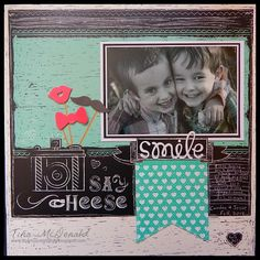 DCWV Scrapbooking Made Easy with tips from Tina! Ready-made pages are available at @joannstores