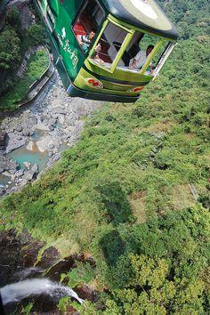 cable car in Wulai, New Taipei #Taiwan