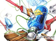 Color Pencil Art, Industrial Design, Colored Pencils, Surrealism, Disney Characters, Fictional Characters, Creative, Illustration, Anime
