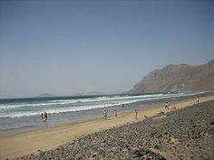 Lanzarote - Playa de Famara, con el risco al fondo