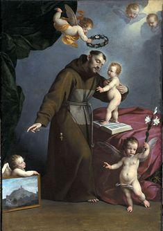 St. Anthony of Padua by Carlos Ceresa-c.1640.