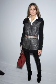 Leather and Knit....