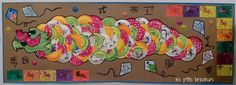 Dragon chinois : fresque collective