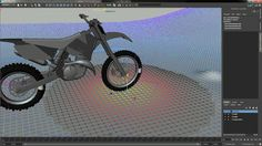 Motorcycle rig test in Maya