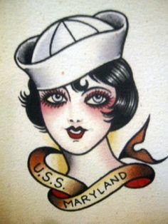 Vintage Tattoo Flash Art 21 by bonniegrrl, via Flickr
