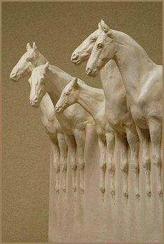Susan Leyland  Magic of Horses Sculpture