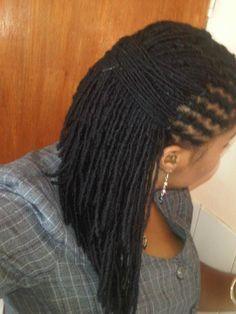 locs half fish braid :: Shop Loc Accessories at DreadStop. Dreadlock Styles, Dreads Styles, Dreadlock Hairstyles, Protective Hairstyles, Natural Hair Care, Natural Hair Styles, Natural Dreads, Beautiful Dreadlocks, Hair Affair
