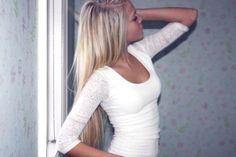 blonde, proana, thinspiration, thinspo, white - image #337784 on ...