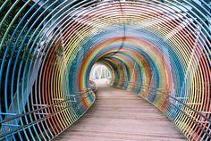 Rainbow bridge in Japan
