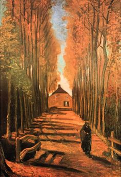 Vincent Van Gogh Avenue of Poplars in Autumn Art Print Poster Masterprint - AllPosters.ca