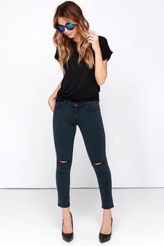Blank NYC The Intro Washed Black Skinny Jeans at Lulus.com!