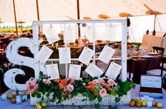giant initial and flower box... would be pretty display at a birthday party too...