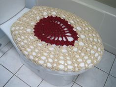 burgundy toilet seat cover. Crochet Toilet Seat Cover  oatmeal burgundy TSC22C by ytang on Etsy Bathroom Set of 3 items Tank Lid