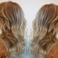 Ash #blonde #highlights #ombre